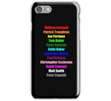 A Rainbow of Doctors iPhone Case/Skin