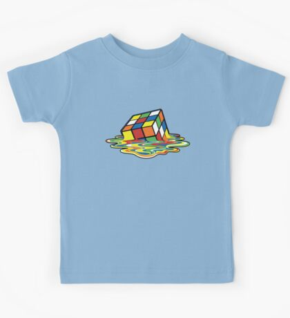 Rubik's Cube Melted Cubes Kids Tee