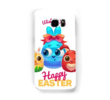 Happy Easter Card with Easter Rabbit Samsung Galaxy Case/Skin