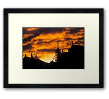 Burning Sky - Nature Photography Framed Print