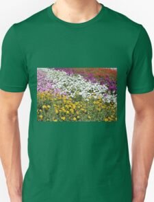 Colorful field of flowers. Unisex T-Shirt