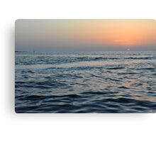 Sunset at the sea. Canvas Print