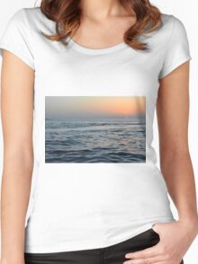 Sunset at the sea. Women's Fitted Scoop T-Shirt