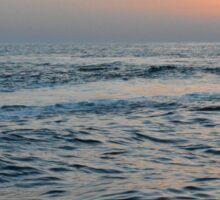 Sunset at the sea. Sticker