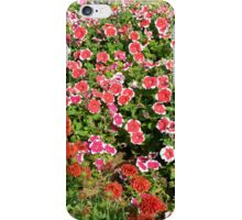 Field of beautiful red flowers. iPhone Case/Skin