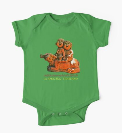 Laughing children and the water buffalo One Piece - Short Sleeve