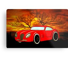 A Butch Red Muscle Car Metal Print