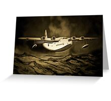 An old style digital painting of a Short Sunderland Flying Boat Greeting Card