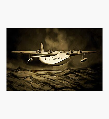 An old style digital painting of a Short Sunderland Flying Boat Photographic Print
