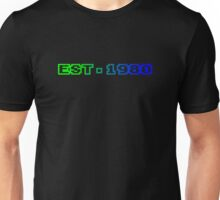 Est. 1980 - Blue green Unisex T-Shirt