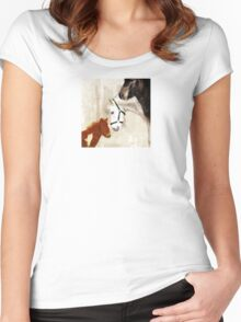 Wetnose Shetland pony Colour Women's Fitted Scoop T-Shirt