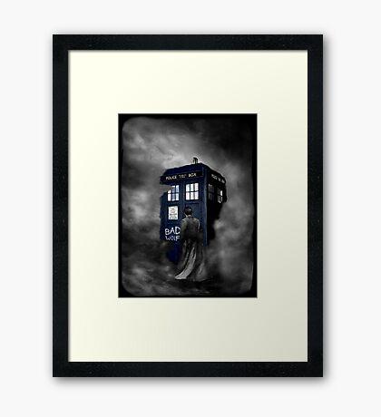Blue Box in The Mist Framed Print