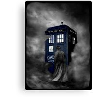 Blue Box in The Mist Canvas Print