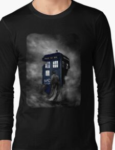 Blue Box in The Mist Long Sleeve T-Shirt