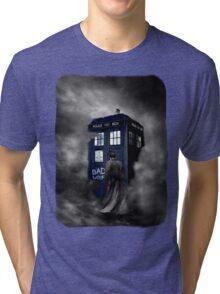 Blue Box in The Mist Tri-blend T-Shirt