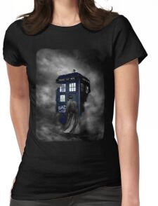 Blue Box in The Mist Womens Fitted T-Shirt