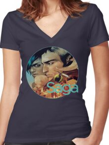 Saga Comic Skwad Women's Fitted V-Neck T-Shirt