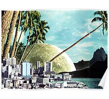 Paradise Lost, Vintage Collage Poster