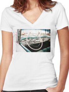 American Classic Women's Fitted V-Neck T-Shirt