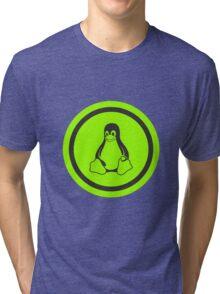 Tux Green Tri-blend T-Shirt