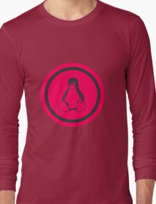Tux Red Linux Long Sleeve T-Shirt