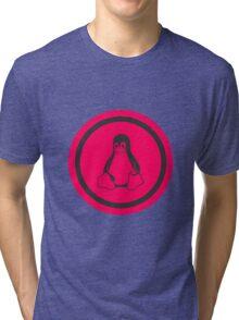 Tux Red Linux Tri-blend T-Shirt