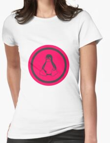 Tux Red Linux Womens Fitted T-Shirt