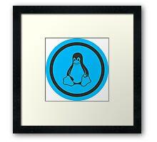 Tux Blue Framed Print