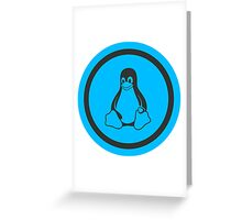 Tux Blue Greeting Card