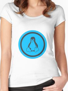 Tux Blue Women's Fitted Scoop T-Shirt