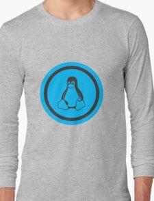 Tux Blue Long Sleeve T-Shirt