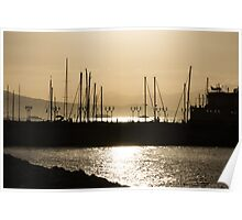 A Necklace of Old World Lights - Golden Morning at Naples Marina  Poster