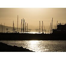 A Necklace of Old World Lights - Golden Morning at Naples Marina  Photographic Print