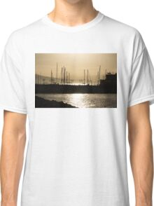 A Necklace of Old World Lights - Golden Morning at Naples Marina  Classic T-Shirt