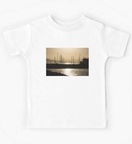 A Necklace of Old World Lights - Golden Morning at Naples Marina  Kids Tee
