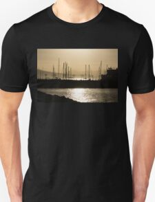 A Necklace of Old World Lights - Golden Morning at Naples Marina  Unisex T-Shirt