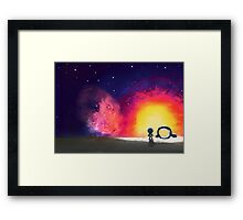 The Hitchhiker's Guide to the Galaxy Framed Print