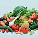 Vegetable display by Arie Koene