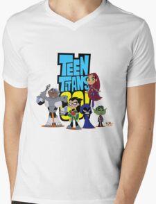 Teen Titans Go! 1 Mens V-Neck T-Shirt