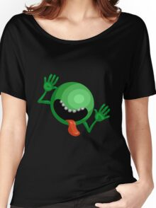 The Hitchhiker's Guide to the Galaxy - Dont Panic  Women's Relaxed Fit T-Shirt