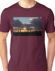 One Very Italian Sunset - Five Cypress Trees on the Shore Unisex T-Shirt