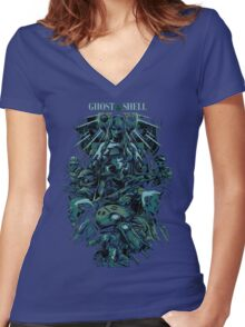 Ghost in the Shell by remi42 Women's Fitted V-Neck T-Shirt