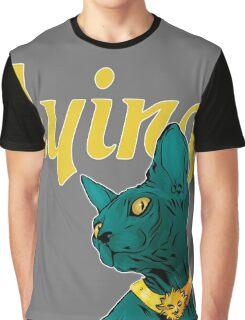 Saga Comic Lying Cat Graphic T-Shirt