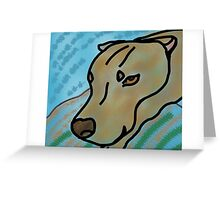 Relaxing Dog Greeting Card