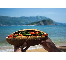 Huge Sandwich for Big Hunger - Product Photography Photographic Print