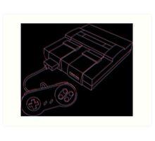 3D Super Nintendo Art Print