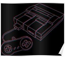 3D Super Nintendo Poster