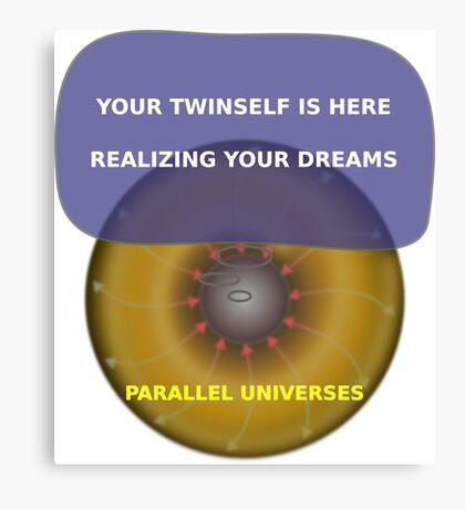 Parallel Universes - Twinself Canvas Print