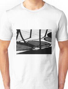 Sidewalk Cafe Shadows  Unisex T-Shirt