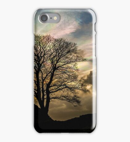 Sycamore Gap Silhouette iPhone Case/Skin